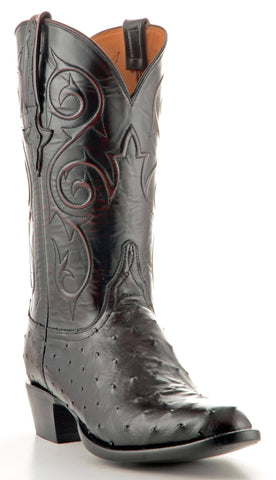 Men's Lucchese Classics Ostrich Black Cherry #GC9349