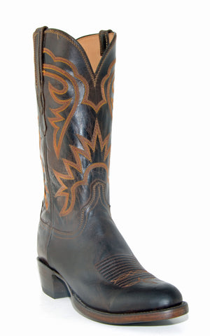 Men's Lucchese Chocolate Burnished Mad Dog Goat Boots #HL1503-6/3
