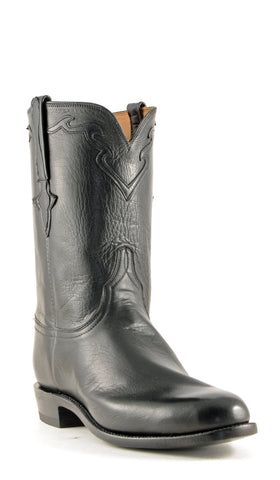 Men's Lucchese Classics Baby Buffalo Boots Roper Black #L3556-R/9