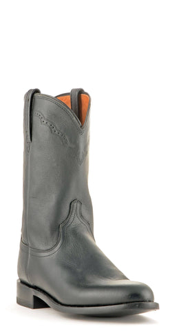 Men's Lucchese Lonestar Calf Boots Roper Black #M1010