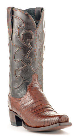 Men's Lucchese Caiman Belly Boots Sienna #M1635-7/4