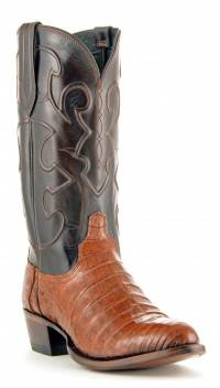 Men's Lucchese Croc Belly Boots Sienna #M1635-R4