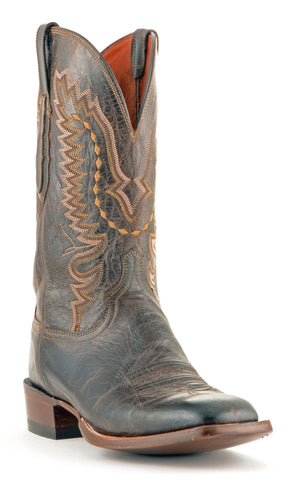 Men's Lucchese Mad Dog Goat Boots Chocolate #CL7792