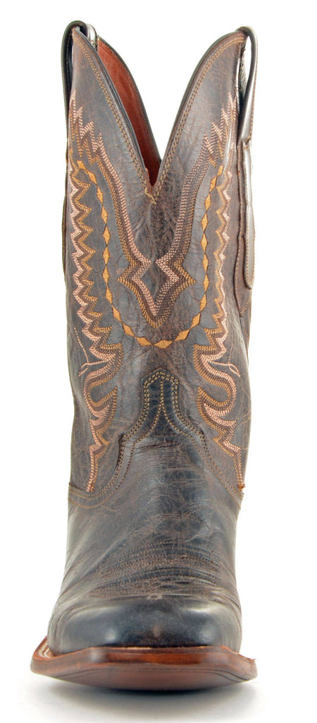 Men's Lucchese Mad Dog Goat Boots Chocolate #CL7792 view 3