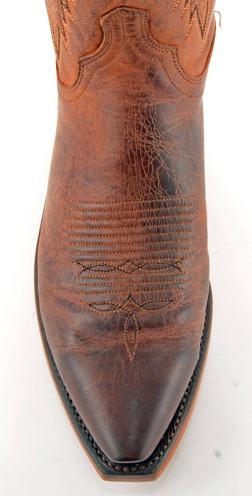 Men's Lucchese Mad Dog Goat Boots Peanut Brittle #N7647-5/4 view 2