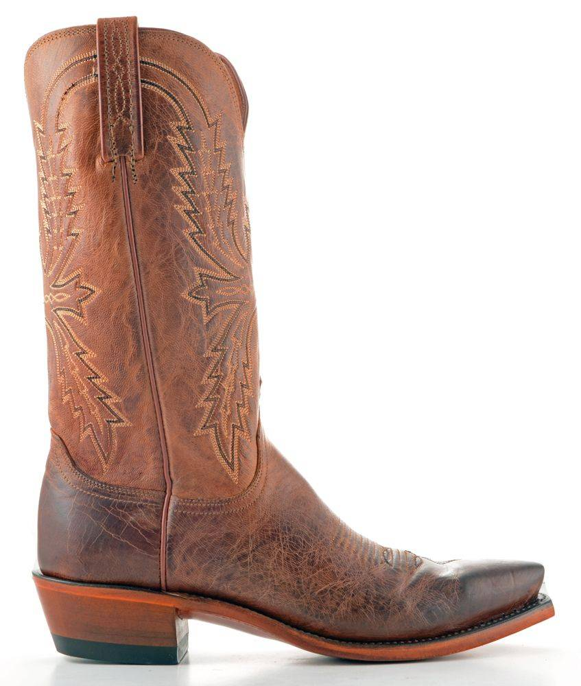 Men's Lucchese Mad Dog Goat Boots Peanut Brittle #N7647-5/4 view 4