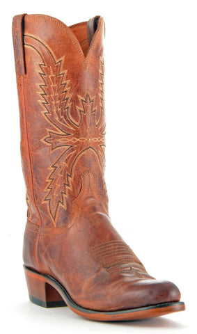 Men's Lucchese Mad Dog Goat Boots Peanut Brittle #N7647-R/4