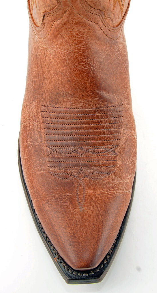 Men's Lucchese Mad Dog Goat Boots Tan #N1547-5/4 view 2