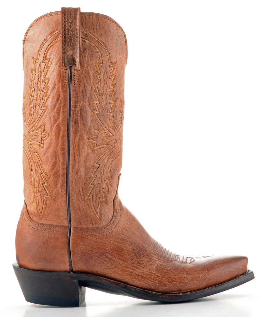 Men's Lucchese Mad Dog Goat Boots Tan #N1547-5/4 view 4