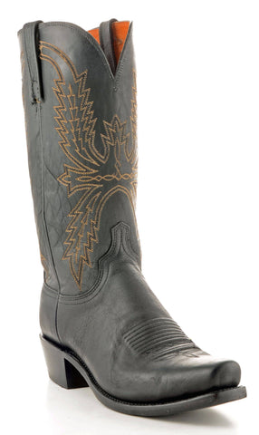 Men's Lucchese Mad Dog Goat Black Boots #N1560-7/4