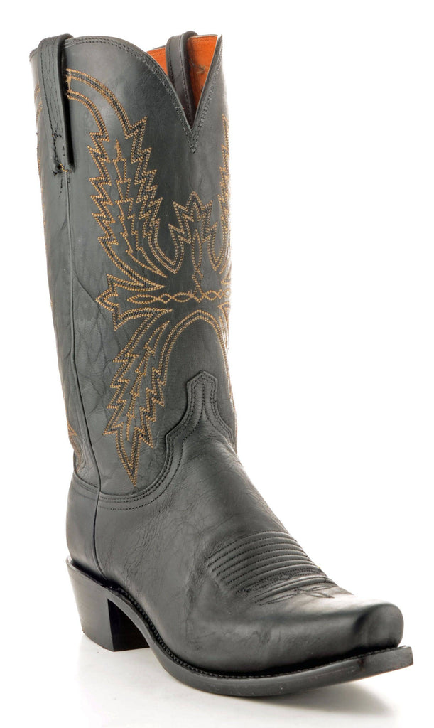 Men's Lucchese Mad Dog Goat Black Boots #N1560-7/4 view 1