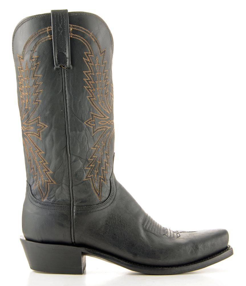 Men's Lucchese Mad Dog Goat Black Boots #N1560-7/4 view 4