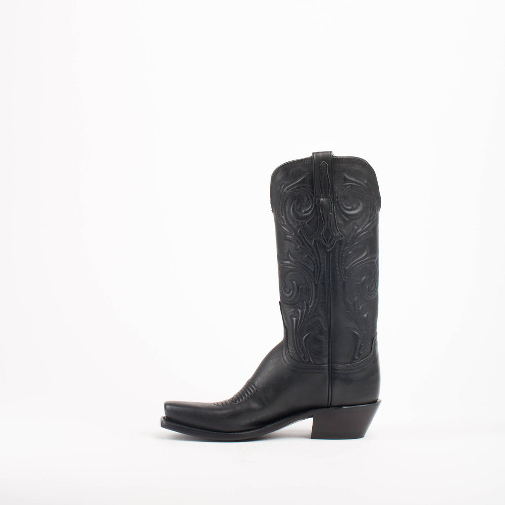 Women's Lucchese Jersey Calf Boots Black #N4783 7/4 view 3
