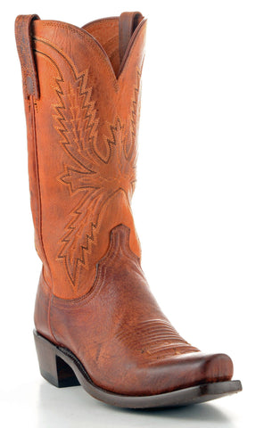 Men's Lucchese Mad Dog Goat Boots Peanut Brittle #N7647-7/4