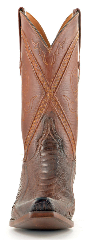Men's Lucchese Classics Ostrich Leg Boots Chocolate Matte #GB9207-7/3 view 3