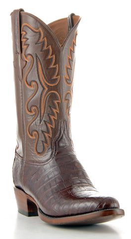 Men's Lucchese Classics Belly Caiman Boots Sienna #E2144-6/3
