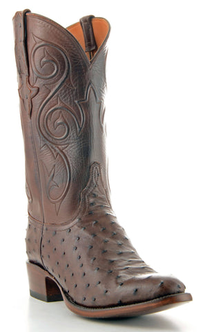 Men's Lucchese Classics Pin Ostrich Boots Sienna #GC9357-6/3
