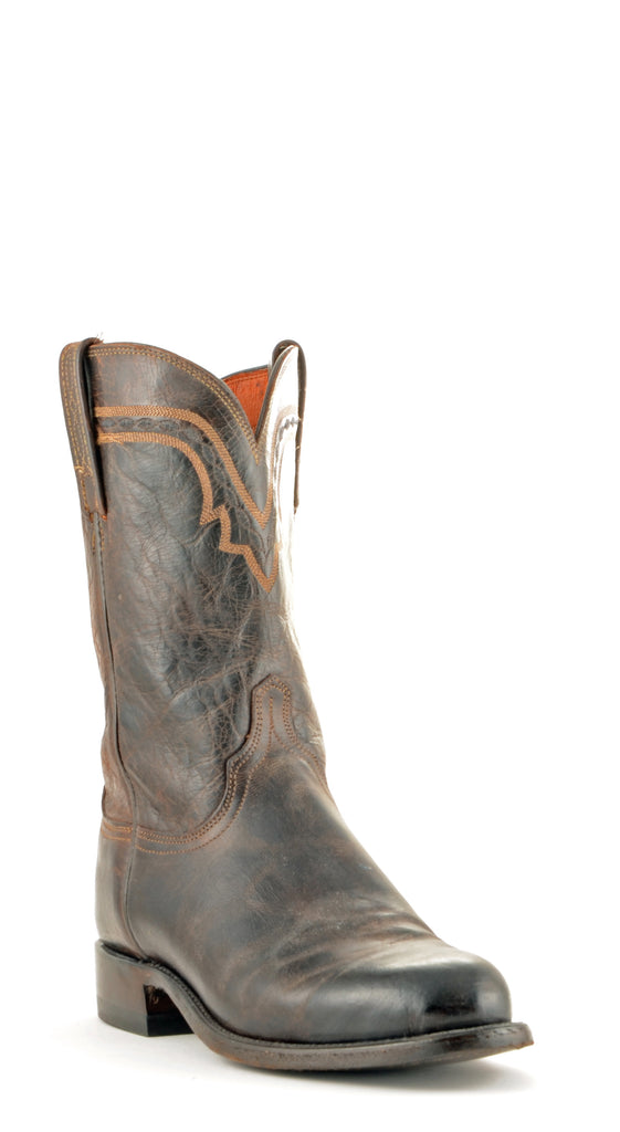 Men's Lucchese Mad Dog Goat Roper Boots Chocolate #T0122 view 1