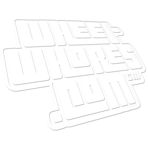 Grand Whores Sticker- White