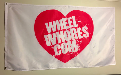 Wheel Whores Flag- White
