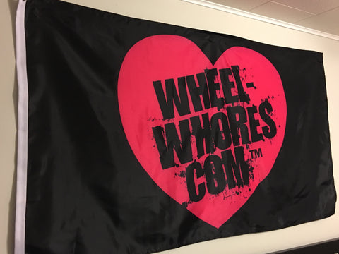 Wheel Whores Flag- Black