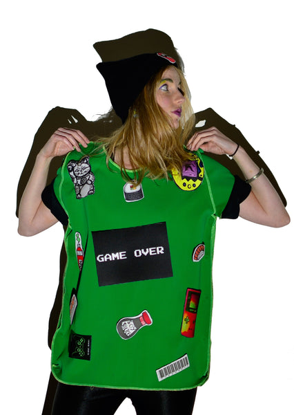 Harajuku Green Game Over DIY T