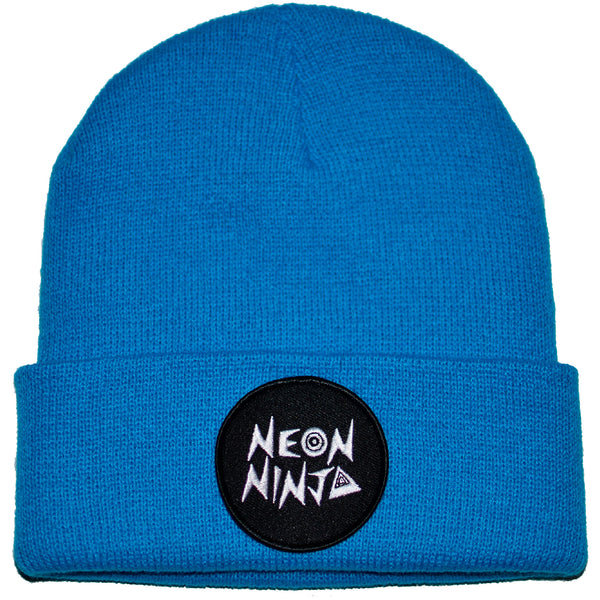 Neon Ninja Electric Blue Beanie