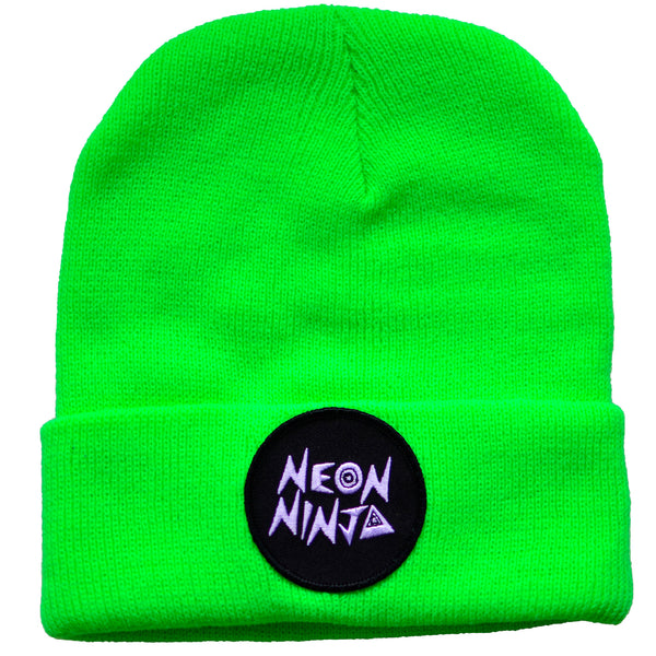 Neon Ninja Sour Apple Green Beanie