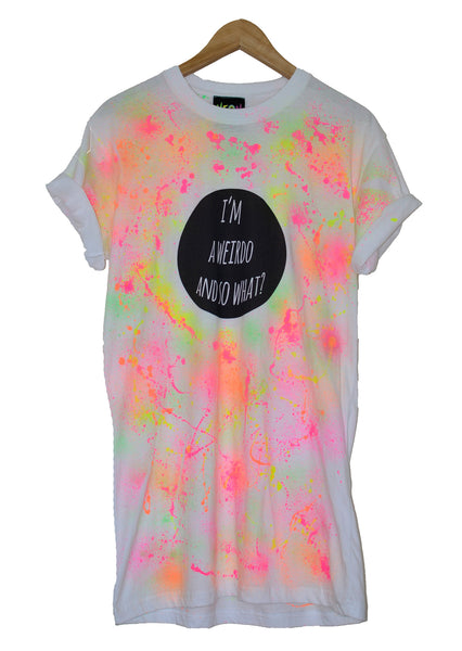 Limited Edition I'm A Weirdo Paint Splat T-Shirt