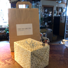 gift wrapping and delivery at The Square Peg