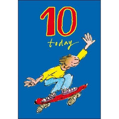 10th Birthday Card Skateboard, Birthday Cards Ages 1-10