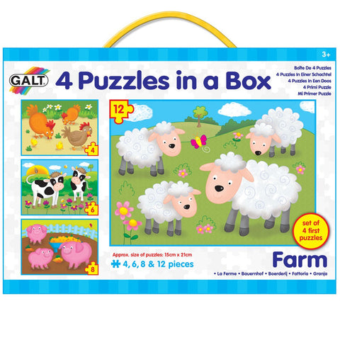 Galt 4 Puzzles in a box Farm