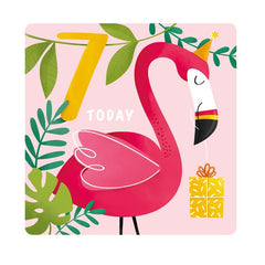7th Birthday Flamingo