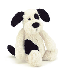 Jellycat Black and Cream Bashful Puppy Small
