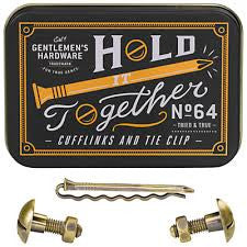 Gentlemen's Hardware Cufflink and Tie Pin Set, Fathers Day Gifts