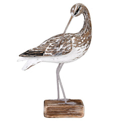 Archipelago Hand Carved Curlew Preening