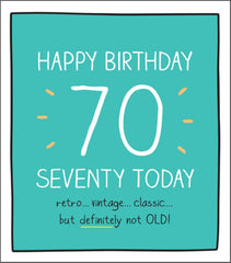70th Birthday Vintage Classic