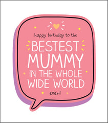 Mummy Birthday Bestest Mummy