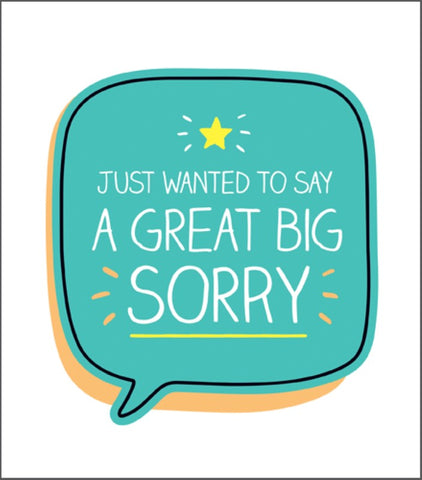 A Great Big Sorry