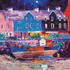Jolomo Beached Fishing Boat Tobermory Card