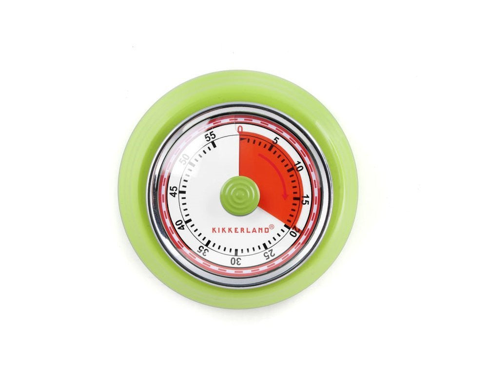 Kikkerland Green Magnetic kitchen Timer, Kitchen Gifts and Gadgets