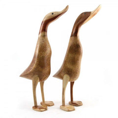 DCUK Natural Wooden Duck, Sculptures and ornaments