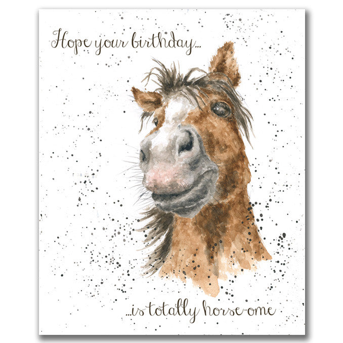 Wrendale Designs Horse-ome Card, His Birthday Cards