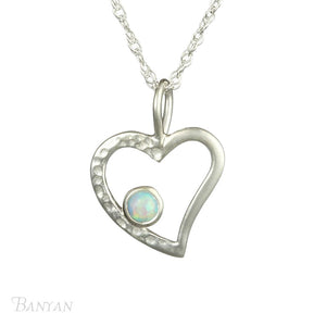 Banyan Heart Pendant with Opalite Detail