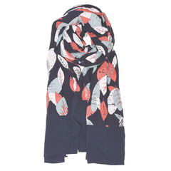 Brakeburn Textured Leaf Border Scarf