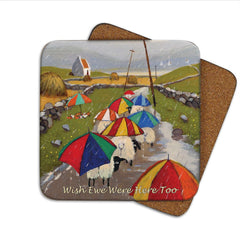 Thomas Joseph Wish Ewe Were Here Too Coaster, Coasters and place mats