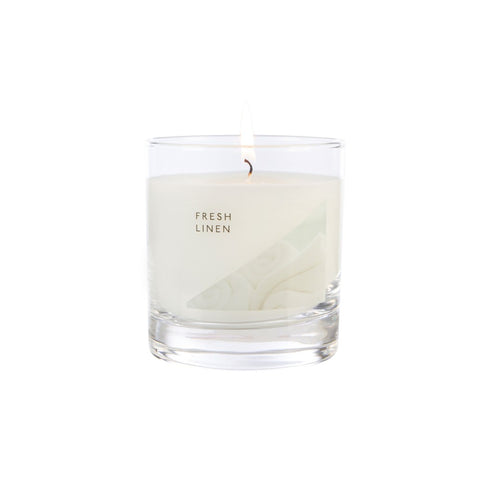 Fresh Linen Medium Glass Candle