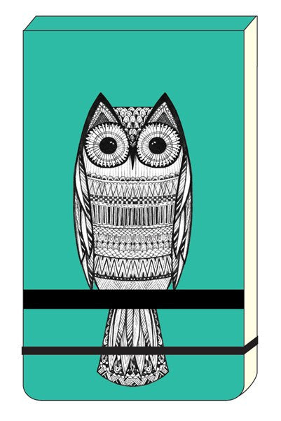 The Art File  A6 Jotter Owls
