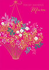 Flower Basket Mothers Day Card