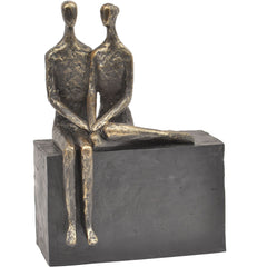 Couple On Block Sculpture
